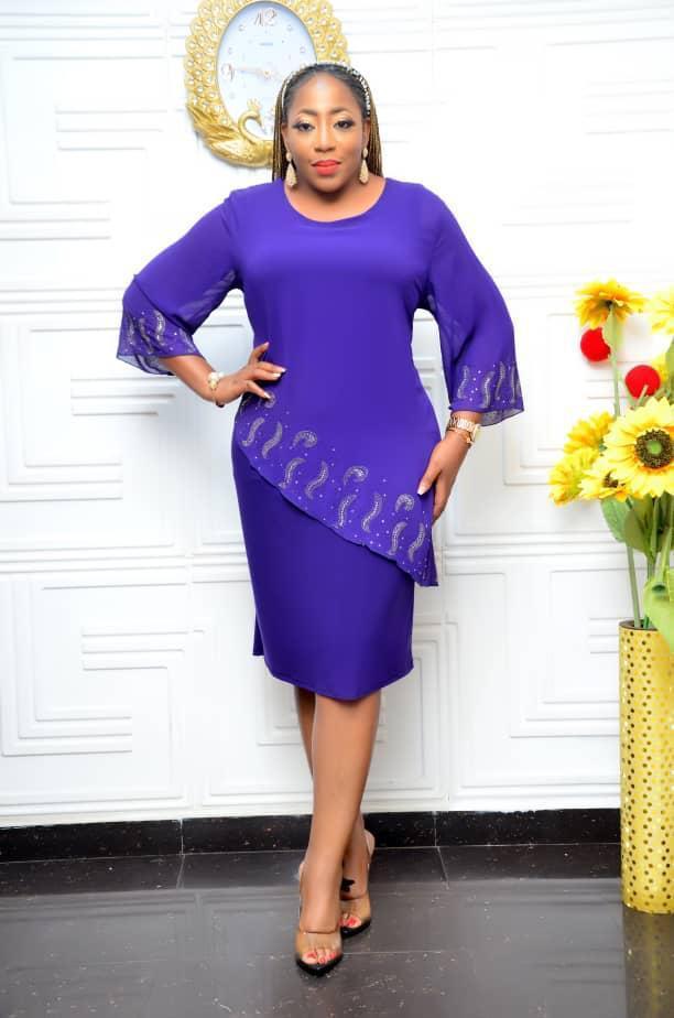 purple gown